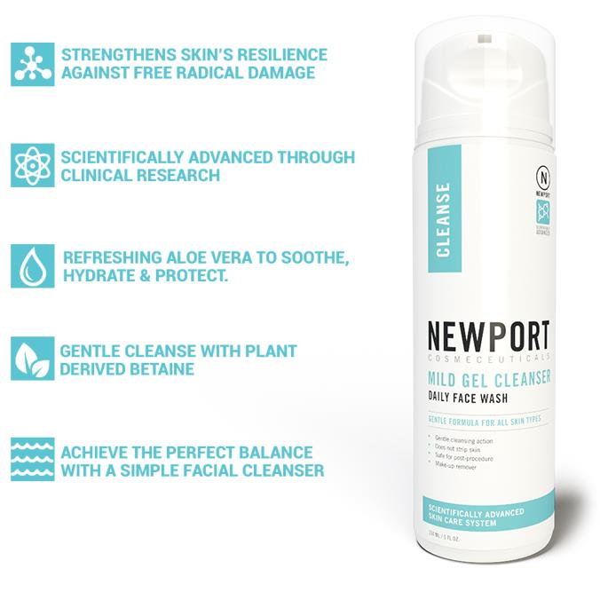 Newport Cosmeceuticals Mild Gel Cleanser Product and Benefits