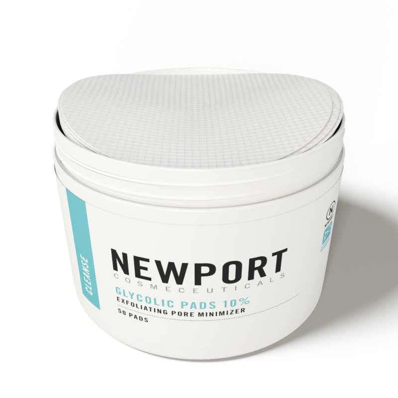 Newport Cosmeceuticals glycolic pads 10
